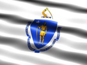 Flag of the state of Massachusetts